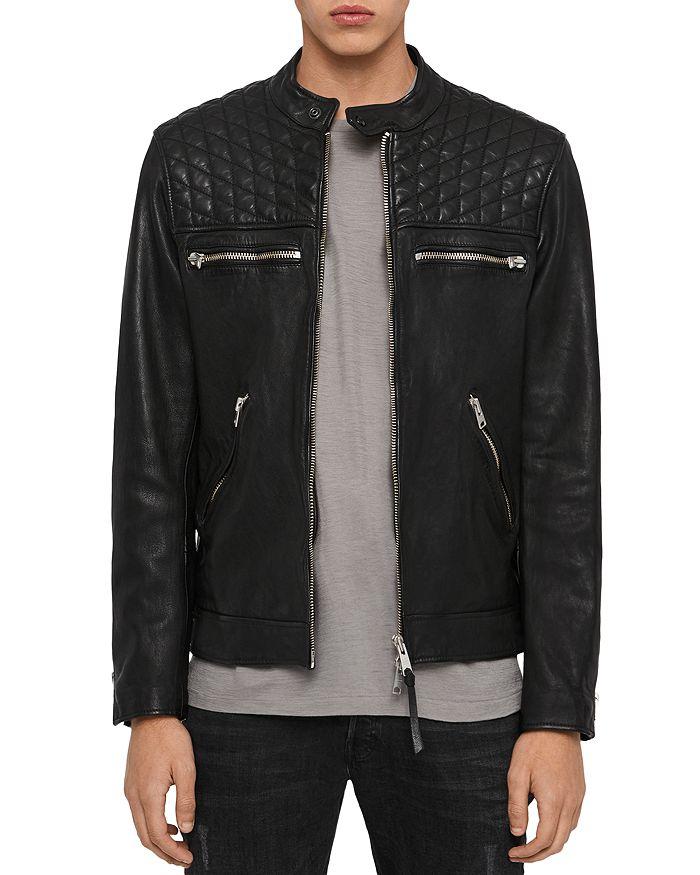 Allsaints Amersham Leather Jacket In Black