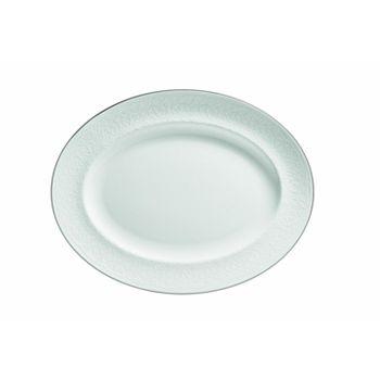 "Wedgwood - ""English Lace"" Oval Platter, 13.75"""