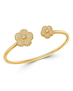 Roberto Coin - 18K Yellow Gold Daisy Diamond Bangle Bracelet - 100% Exclusive