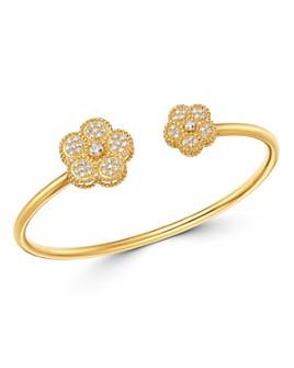 Roberto Coin - 18K Yellow Gold Daisy Diamond Bangle Bracelet - 100% Exclusive