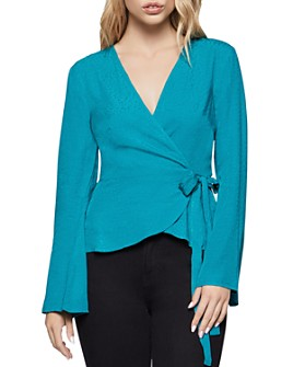BCBGENERATION - Bell-Sleeve Wrap Top