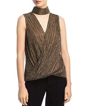 Bailey 44 - Blair Metallic Crossover Top