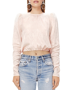 Afrm Tops REEVE TIE-BACK CROPPED TOP