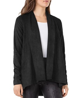 Liverpool Los Angeles - Faux-Suede Draped Cardigan