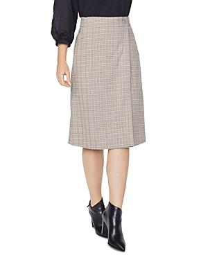 Nydj Plaid Wrap Skirt