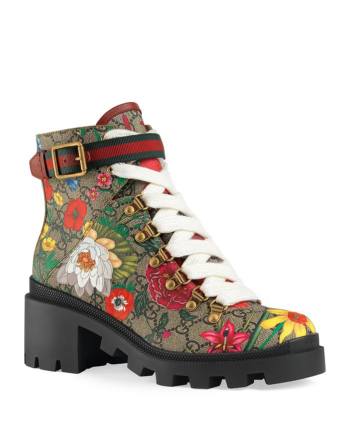 Gucci - Women's GG Flora Ankle Boots