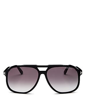 Tom Ford Men's Raoul Brow Bar Aviator Sunglasses, 62mm