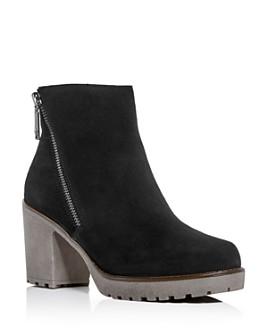 Blondo - Women's Skye Waterproof Block-Heel Platform Booties