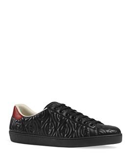 Gucci - Men's New Ace G Rhombus Low-Top Sneakers