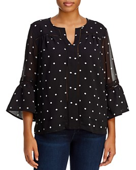Single Thread Plus - Printed Bell Sleeve Blouse