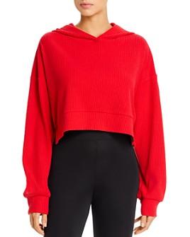 Alo Yoga - Muse Rib-Knit Hooded Sweatshirt