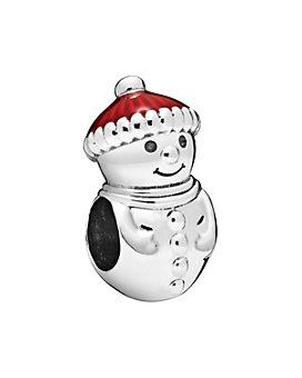 Pandora - Sterling Silver & Enamel Snowman & Santa Hat Charm