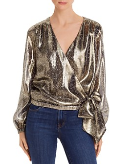 Ramy Brook - Norah Metallic Snakeskin Faux-Wrap Top - 100% Exclusive
