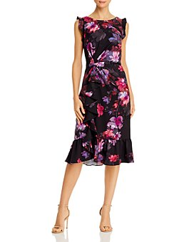 Adrianna Papell - Watercolor Lillies Dress