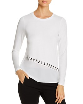 Design History - Studded Asymmetric-Hem Top