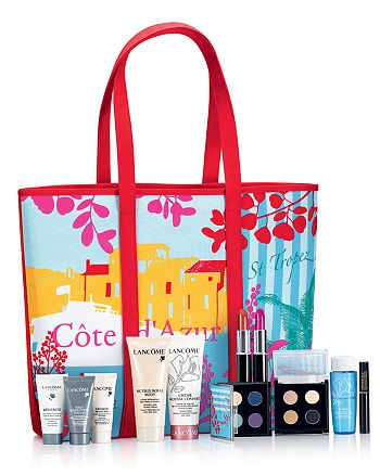 Lancôme - FREE  Riviera Gift - Get a Tote, An Anti-Aging Moisturizer & 4 of these 8 Beauty Favorites with any $35 Lancôme purchase!