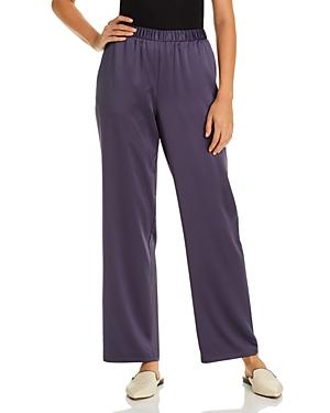 Eileen Fisher Pants SATIN STRAIGHT-LEG PANTS