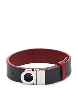 Salvatore Ferragamo - Gancini Reversible Leather Bracelet