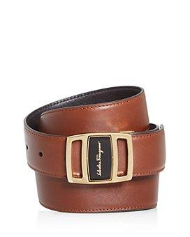 Salvatore Ferragamo - Men's Adjustable & Reversible Leather Belt