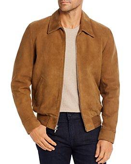 7 For All Mankind - Suede Regular Fit Blouson Jacket