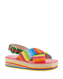Gucci - Women's Multi-Colored Terry Cloth Sandals