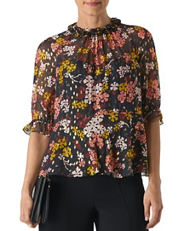 Whistles - Clover Floral Ruffled Top