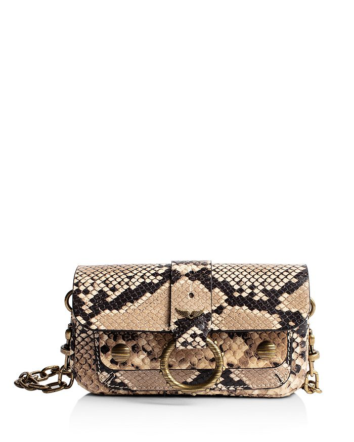 Zadig & Voltaire - Kate Metallic Croc-Embossed Mini Bag