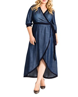 standards & practices - Elle Chambray Denim Wrap Dress