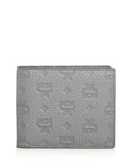 MCM - Monogram Embossed Leather Bi-Fold Wallet