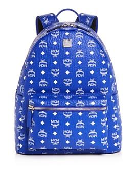 MCM - Stark Monogram Leather Backpack