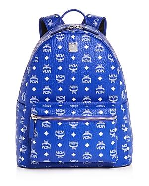 Mcm Stark Monogram Leather Backpack