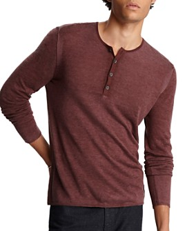 John Varvatos Collection - Silk/Cashmere Henley