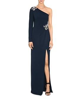 MARCHESA NOTTE - Embellished One-Shoulder Gown