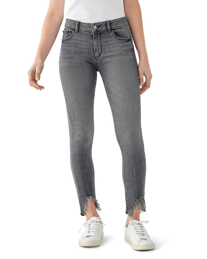 DL1961 - Florence Mid-Rise Ankle Skinny Jeans in Flint