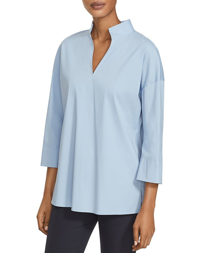 Lafayette 148 New York - Stretch Cotton-Blend Blouse