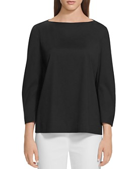 Lafayette 148 New York - June Shirred-Sleeve Blouse
