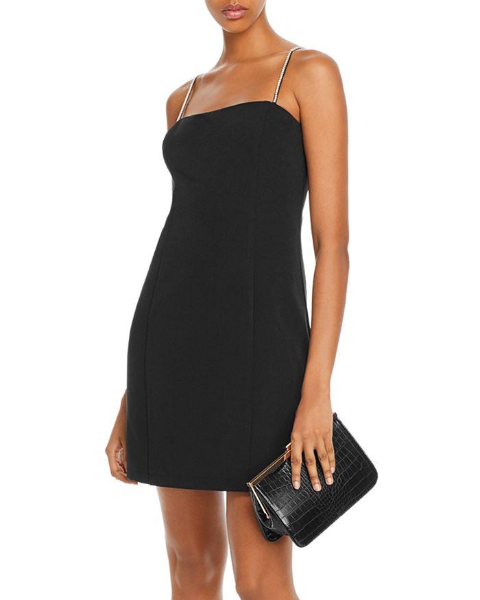 AQUA - Rhinestone-Strap Mini Dress - 100% Exclusive