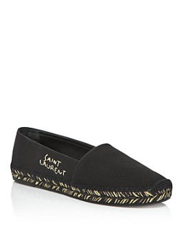 Saint Laurent - Women's Embroidered Logo Espadrille Flats