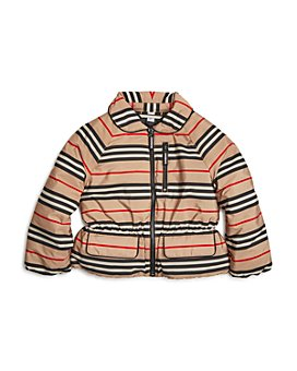 Burberry - Girls' Mollie Icon-Stripe Down Jacket - Little Kid, Big Kid