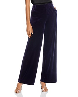 AQUA - Velvet Wide-Leg Pants - 100% Exclusive