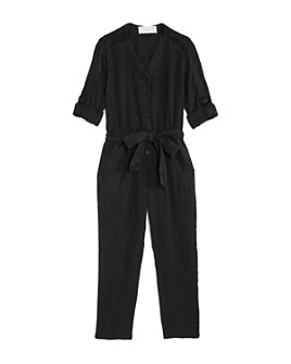Bella Dahl - Girls' Satin-Trim Jumpsuit - Little Kid, Big Kid