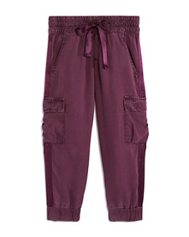 Bella Dahl - Girls' Satin-Trim Cargo Pants - Little Kid, Big Kid