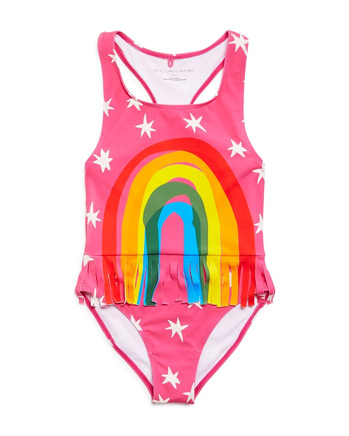 Stella McCartney - Girls' Fringed Rainbow One-Piece Swimsuit - Little Kid, Big Kid