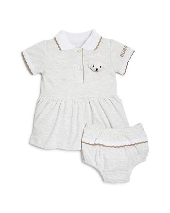 Burberry - Girls' Scanlon Bear Piqué Dress & Bloomers Set - Baby