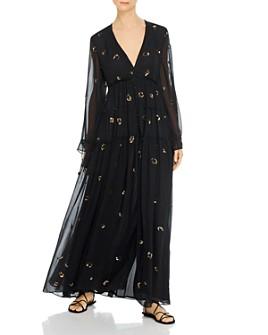 Rococo Sand - Mystic Leopard Sequin Maxi Dress