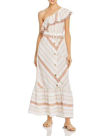 Red Carter - Grace One-Shoulder Ruffle Maxi Dress