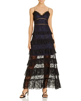 O.P.T - Noelle Tiered Lace Gown