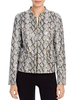 Calvin Klein - Faux Snakeskin Moto Jacket