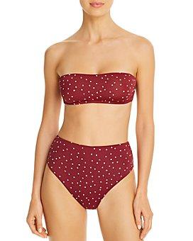 ViX - Lola Basic Bandeau Bikini Top & Lola High-Waist Bikini Bottom