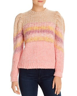 Vero Moda - Pinar Striped Puff-Sleeve Sweater